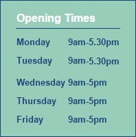 Opening times - Dental Healthcare Practice